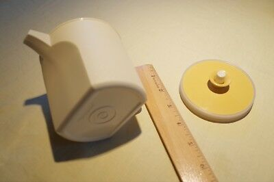 Vintage Tupperware Creamer Push Button Lid Gold Almond Mid Century Cream 1414 US