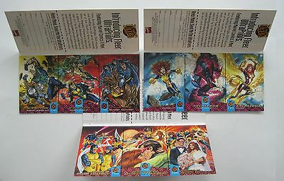HTF MARVEL 1994 FLEER ULTRA X-MEN Complete Set of UNCUT 3 CARD PROMO SHEETS