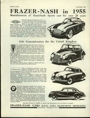 Frazer-Nash in 1955 Auto Union DKW Porsche BMW Type 502 ad 1954 1955