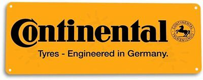 Continental Tyres Tires Retro Tin Metal Sign