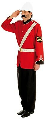 Mens Boer War British Soldier Costume 19th Century Soldier Red Coat Fancy Dress