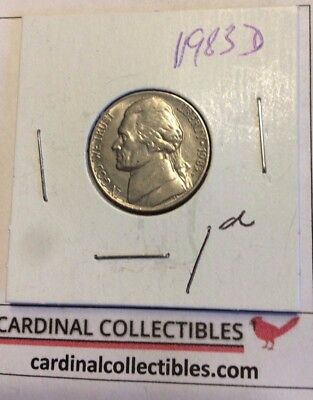 1983 US Nickel Jefferson D in GOOD (G) Condition