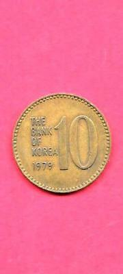 SOUTH KOREA KOREAN KM6a 1979 VF-VERY FINE-NICE OLD 10 WON COIN GREAT GIFT