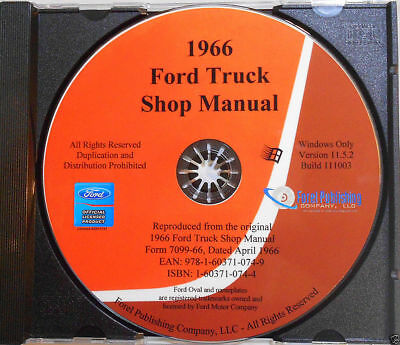 1966 Ford Truck Shop Manual (CD-ROM)
