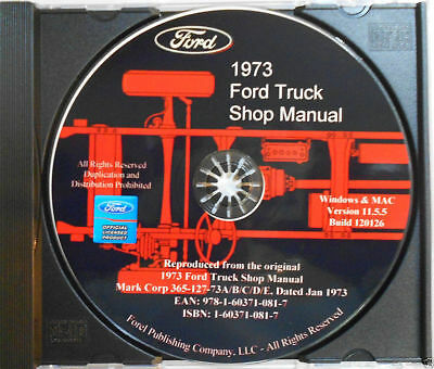 1973 Ford Truck Shop Manual (CD-ROM)
