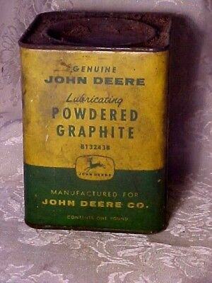 Vintage Old Antique John Deere Green Yellow Sign Barn Farm Powdered Graphite Can