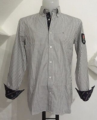 Eden Park L/s Oxford Grey Striped Rfu England Shirt Size Men's Large Brand New