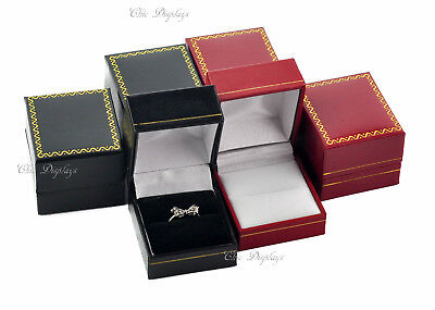Lot Of (6) Mixed Ring Box High Quality Leatherette Ring Box Jewelry Gift Box