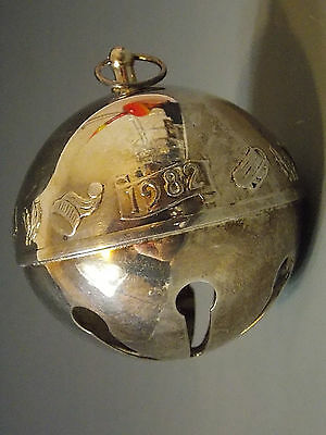 Wallace ~ Annual Silver Plated Sleigh Bell ~ 1982 ~ Christmas Ornament