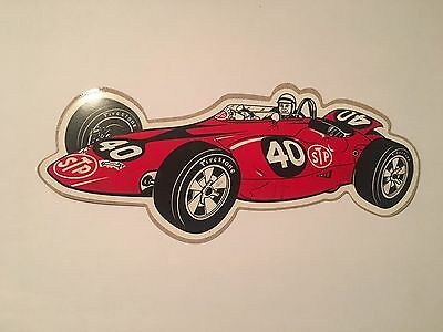 1967 Vintage Stp Parnelli Jones Turbine Sticker Decal Nascar Nos Mint