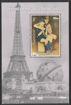 Guinea 6147 -  1998 EVENTS OF 20th CENTURY BADEN POWELL SCOUTS perf m/sheet u/m