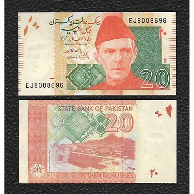 Pakistan P-55g 2013 20 Rupees-Crisp Uncirculated