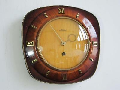 BEAUTIFUL STYLISH 1950s 1960s VINTAGE RETRO WALL CLOCK by KAISER timepiece