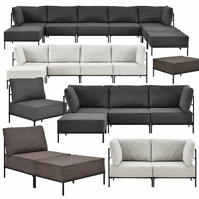sofa couch 3 sitzer sessel hocker kunstleder polstergarnitur wohnlandschaft bett eur 829 00. Black Bedroom Furniture Sets. Home Design Ideas