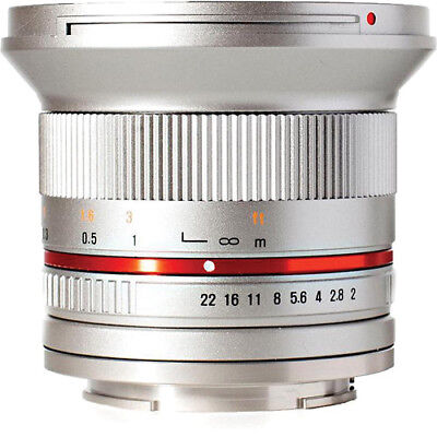 ROKINON 12mm F2.0  Ultra Wide Angle Lens for Sony E-Mount (Silver)