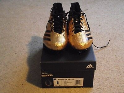 Adidas Adizero 5-Star 6.0 Football cleats Gold/Black New in box Size 8.0