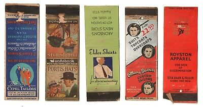 1935 CEPEL & O'MEARA BROTHERS / ROYSTON APPAREL / PORTIS HATS / ELDER SHIRTS Ads