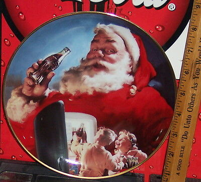 Franklin Mint Haddon Sunbloom Stocking Up For Santa Collector's Plate
