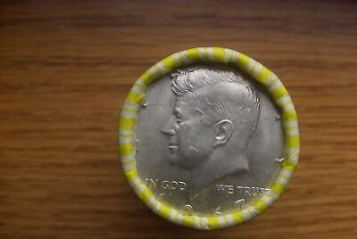 Kennedy Half Dollar Bank Roll Unsearched With Silver Kennedy 1967 On The End