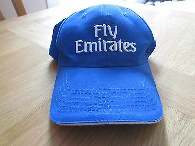 Fly Emirates Blue Baseball Cap.One Size Fits All.