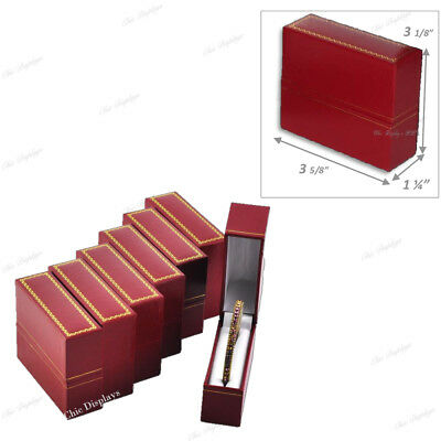 Hot Deal! Lot Of 6 Red Standing Bangle Boxes Jewelry Boxes Bracelet Box Gift Box