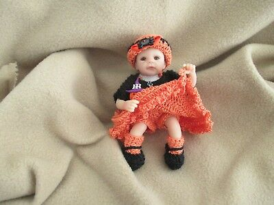 "Ashton Drake 6"" Ooak Little Baby Witch Clothes Collectibles Keepsakes Lovewraps"