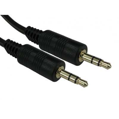 0.5m Short 3.5mm Jack to Jack Aux Cable STEREO Audio Auxiliary Lead PC Car GOLD
