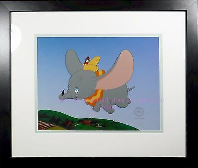 Dumbo Timothy Flying High Deluxe Edition Disney Certified cel Framed