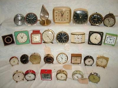 Job Lot Collection Of Vintage Alarm Clocks - Lot 34