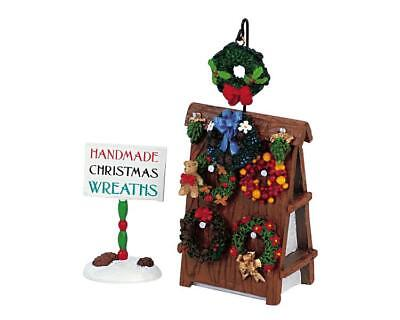LEMAX Lot Christmas Village Accessories WREATHS for SALE Figurine Set People