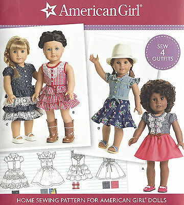 "18"" AMERICAN GIRL DOLL Modern Dresses Simplicity 8359 UNCUT Sewing Pattern NEW"
