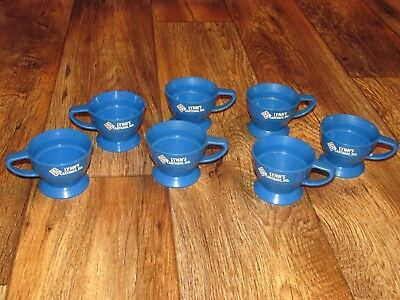 Lot Of 7 Skelly Advertising Solo Cup Holders, Gas Station Promo's, Carthage Mo,