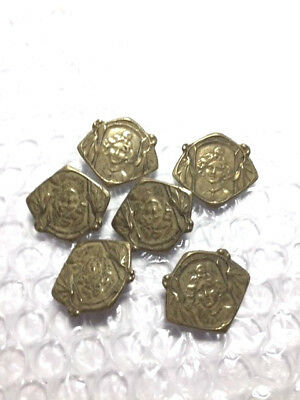 6 NOS Lady Battersea Reproduction BUTTON 1""