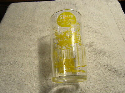 """Vintage Staley Feeds 5"""" Federal Glass St Louis on the Old Man Mississippi River"""