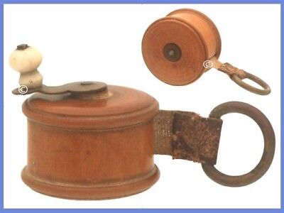 Antique English Treen (Wooden) Tape Measure *C.1860s