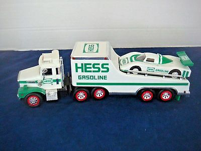 1988 Hess Toy Truck & Racer~Displayed, Never Played With~Excellent Condition