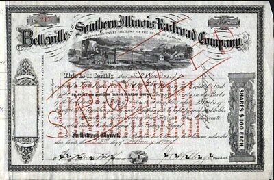 Belleville And Southern Illinois Railroad Co, 1904, Stock Certificate