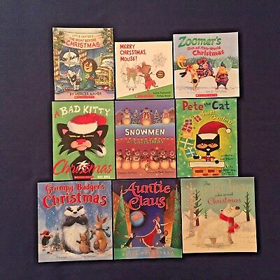9 Lot Popular Bestselling Children's Picture Books: Christmas Holiday Theme PBs