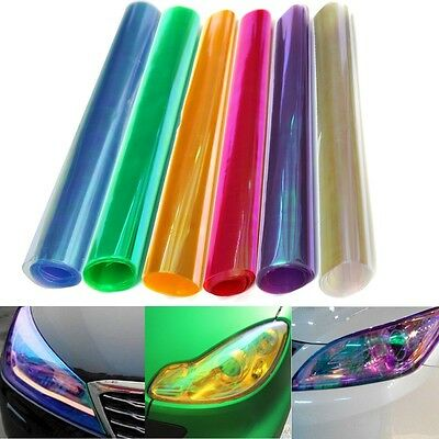 30x60cm Car Smoke Fog Light Headlight Taillight Tint Vinyl Film Sheet Sticker