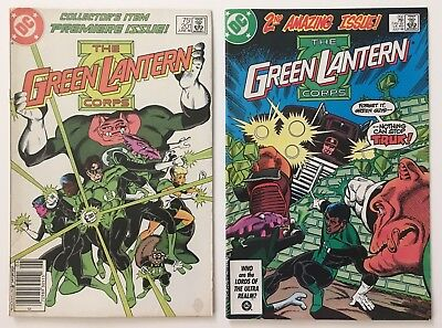 The Green Lantern Corps # 201 and 202 - 1st Appearance of Kilowog DC Comics 1986
