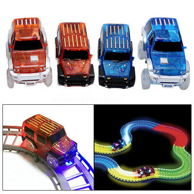 LED Light Up Glow in Dark Cars For Magic Tracks Racetrack Electronics Kids Toys