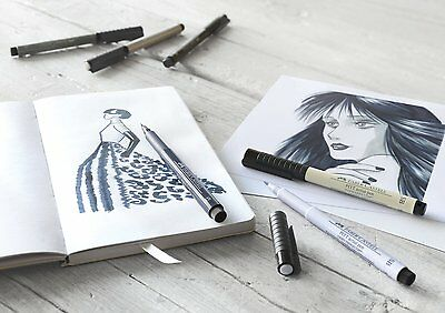 Faber-Castel Pitt Artist Pens - Soft Brush Nibs - Drawings, Layouts, Fashion Des