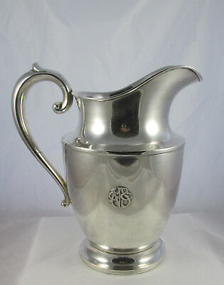 Antique Wallace Sterling Silver Water Pitcher Applied Arts&Crafts Mono NSGC