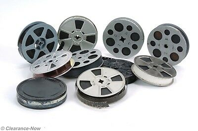 Lot of 9 Vintage 8mm Amateur Home Movie Film Reels & 1 Metal Film Case 6293