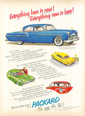Everythng is new Everything new is here Packard ad 1951