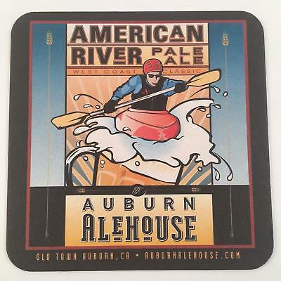 Beer Coaster Auburn AleHouse American River Gold Country Pils CA Craft Brewery