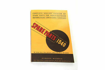 Spare Parts Book for 1930-1940 Big Twin For Harley-Davidson