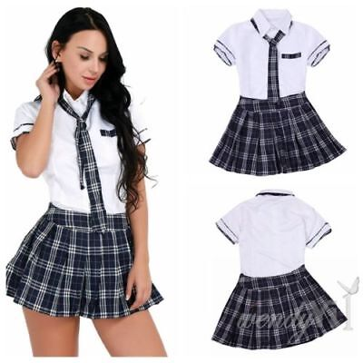 Halloween Women School Girl Uniform Students Dress Sailor Cosplay Costume Plus