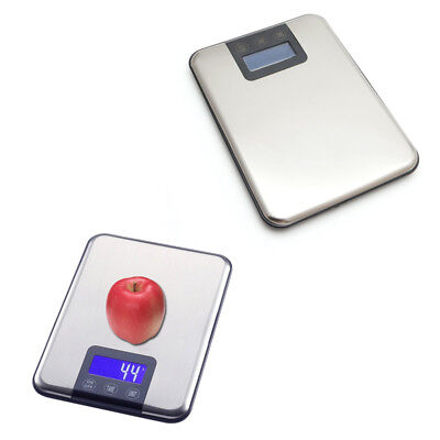 15kg 1g Slim Stainless Steel Digital Electronic Scale Food Kitchen Touch Weight