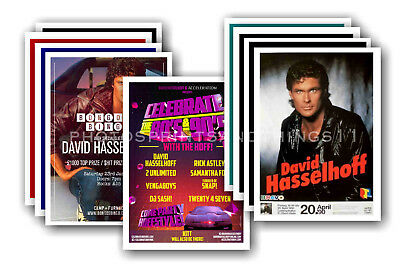 DAVID HASSELHOFF - 10 promotional posters  collectable postcard set # 1